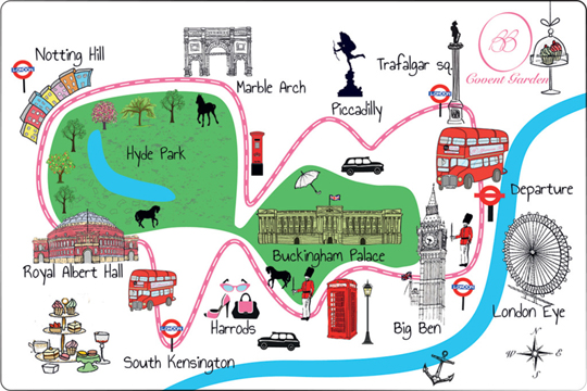 The Afternoon Tea Bus Map