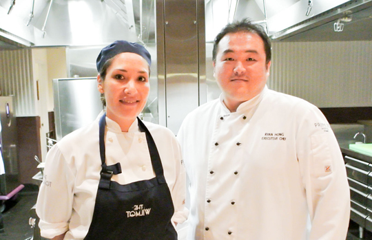 Pastry Chef Andrea Liu and Executive Chef Ryan Hong