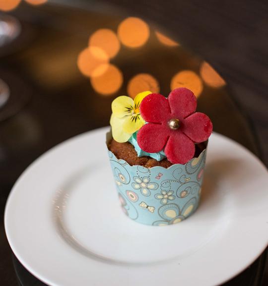 Kaffir lime cupcake
