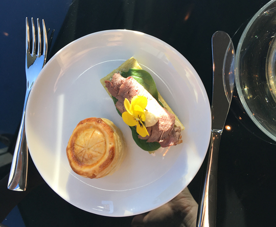 Savoury selection from the Winter High Tea