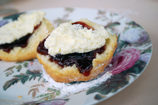 Scones served with Gruyere double cream and homemade jam