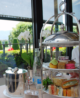 Champagne afternoon tea at Hotel d'Angleterre Geneva