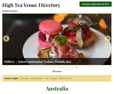 Sponsored Venue Listings appear at the top of directory.