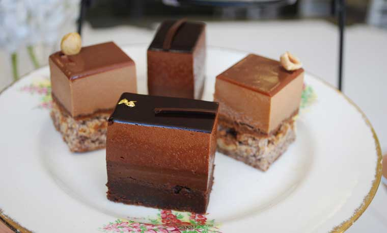 Hazelnut Fan Slice and Brownie Mousse Slice