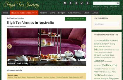 High Tea Society Venue Directory