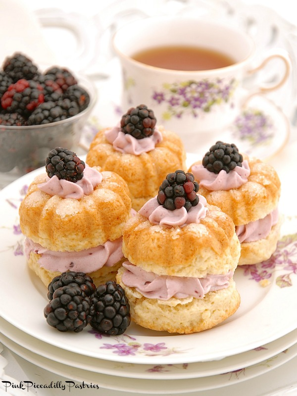 Scones With Blackberry Whipped Cream Recipe High Tea Society