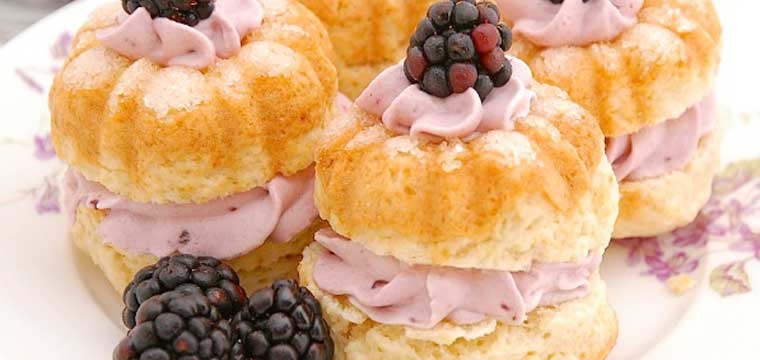 Cream Tea Scones with Blackberry Whipped Cream