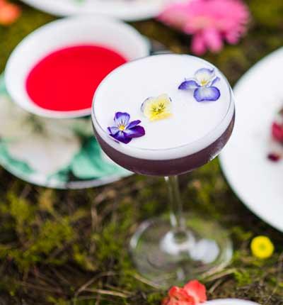 """Flower Power"" cocktail"